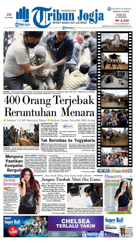 Tribunjogja 26 04 2015 By Tribun Jogja Issuu Gendongan Bayi Depan Mbg 6201 Free Ongkir Jabodetabek