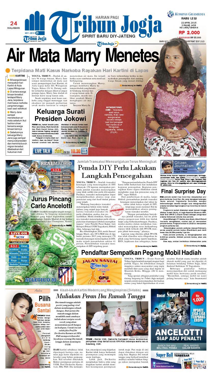 Tribunjogja 22 04 2015 By Tribun Jogja Issuu Produk Ukm Bumn Batik Tulis Warna Alam Ra Ampamp