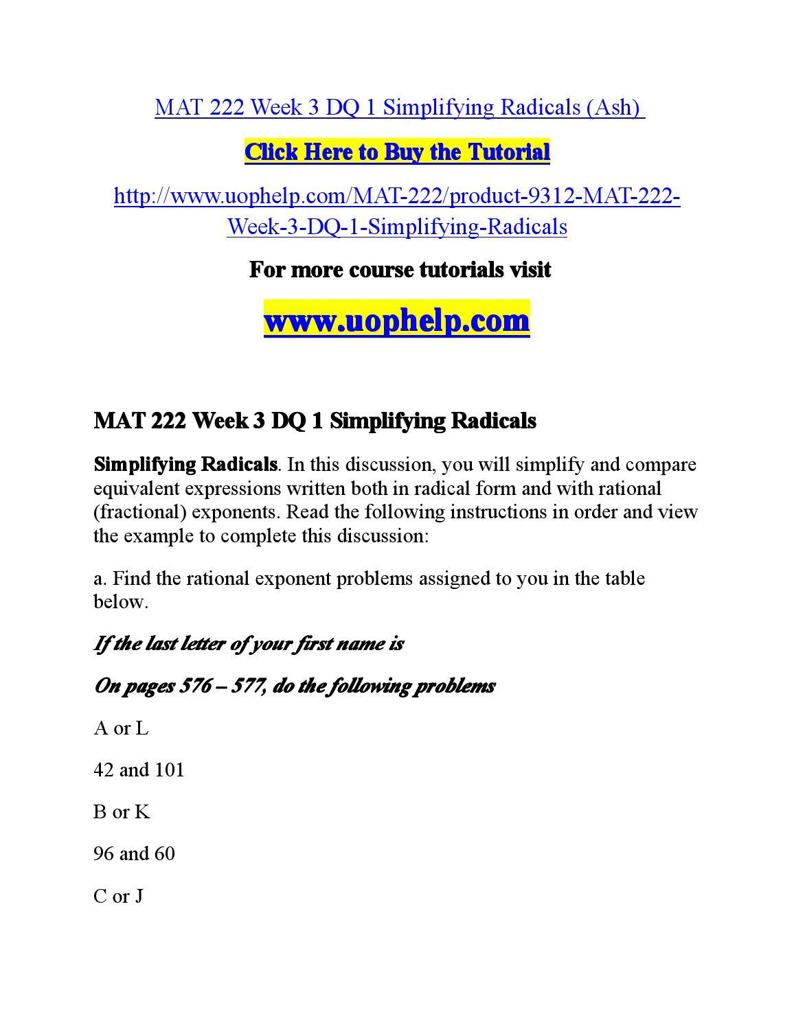 Math 222 Week 4 Discussion P38 (M or Z) and P48 (A or L) MS excel file