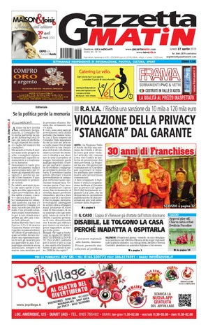 Gazzetta Matin 27 aprile by NewsVDA - issuu 3f83e25e87c