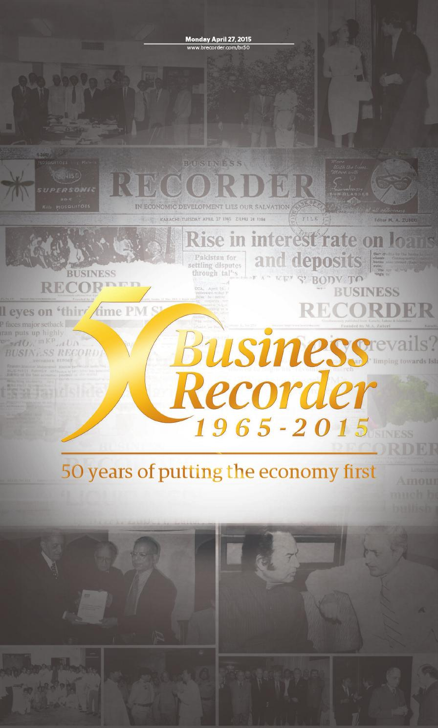 Business Recorder - 50 years of putting the economy first by