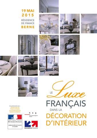 Le luxe français dans la décoration d\'intérieur by Business ...