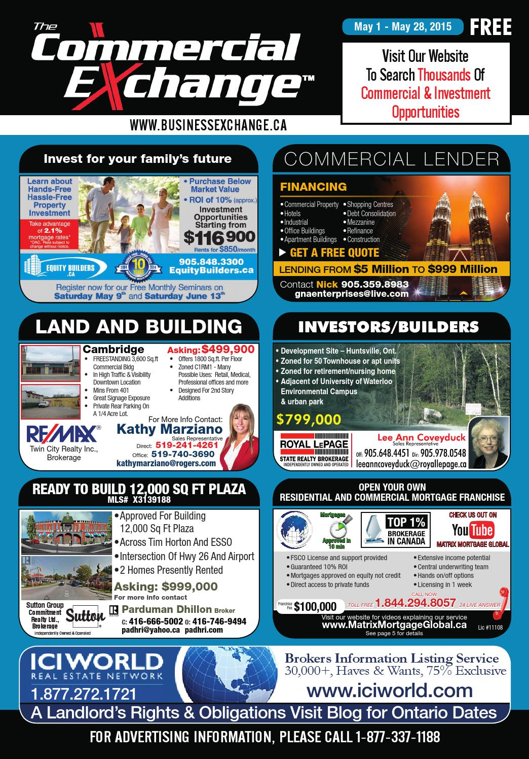 The Commercial Exchange Magazine - May 1, 2015 by The Business ...