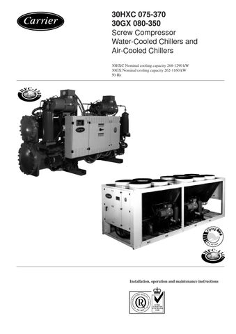13173 phase1 by servis carrier plze s r o issuu rh issuu com HVAC Carrier Chiller Manuals carrier 30hxc chiller service manual