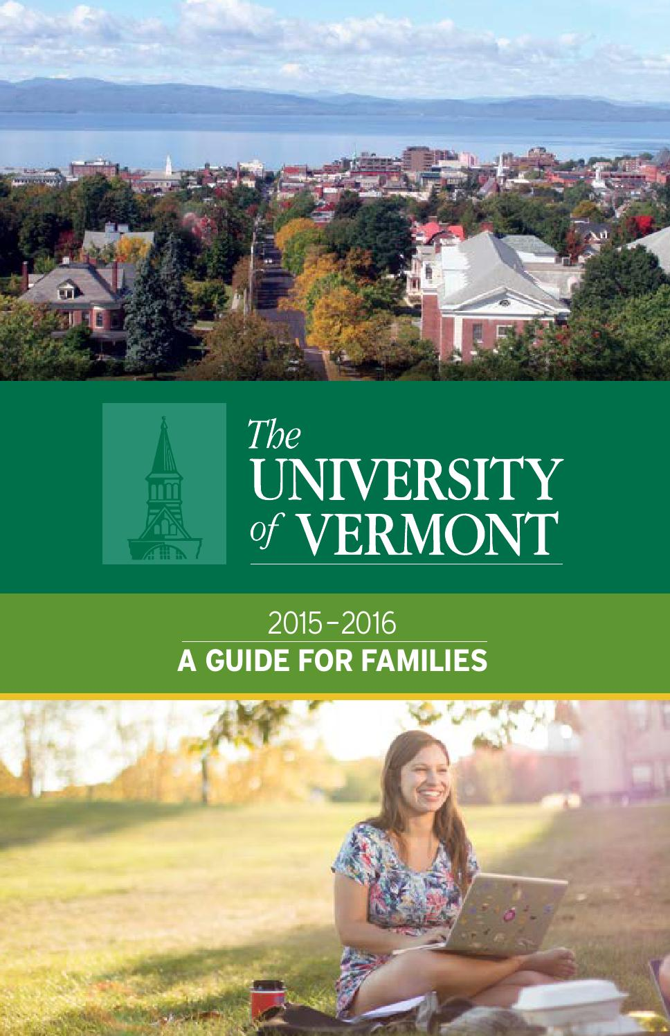 University of Vermont 2015-2016 Guide for Families by ... on