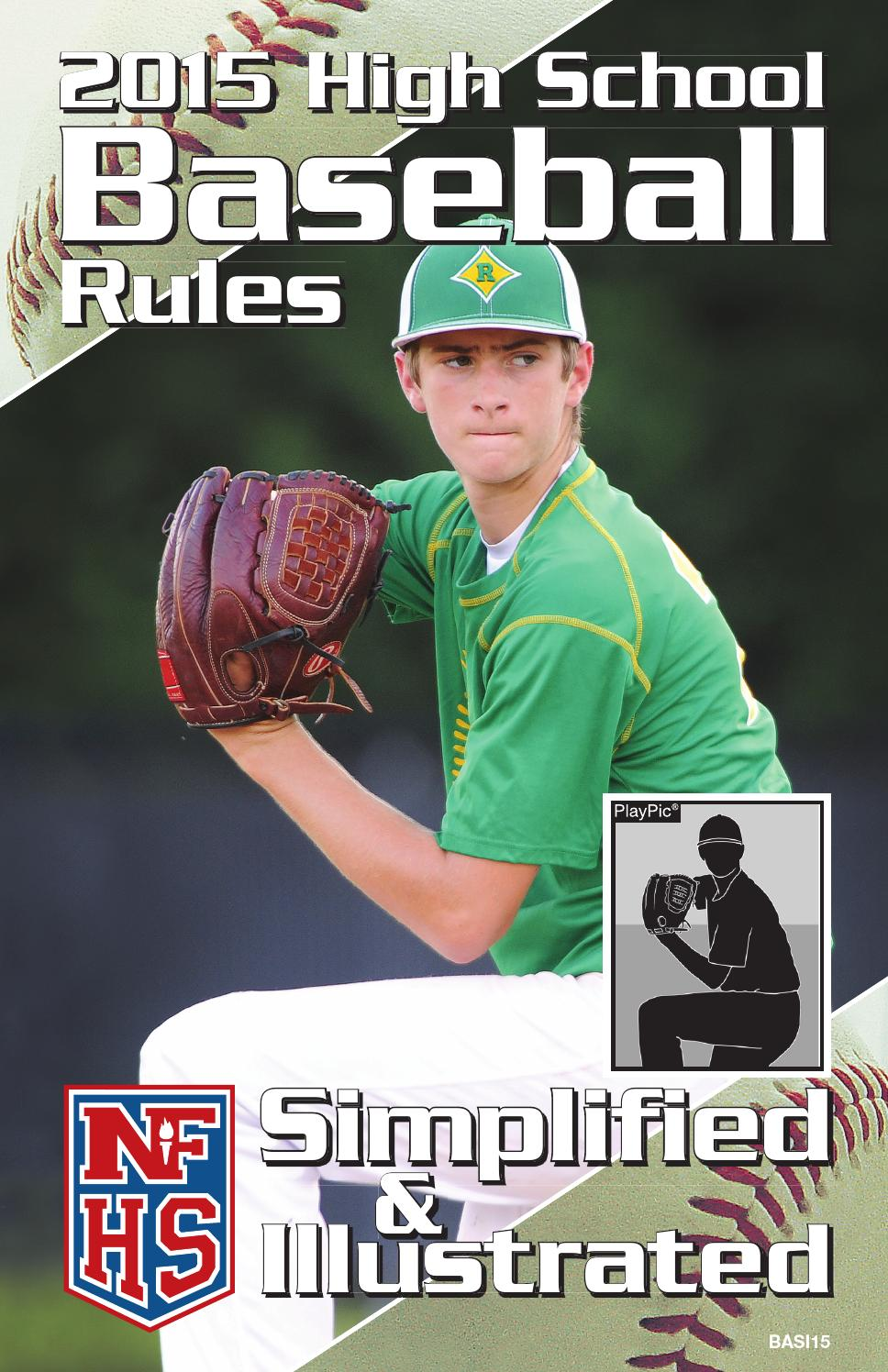 2015 Nfhs High School Baseball Rules Simplified