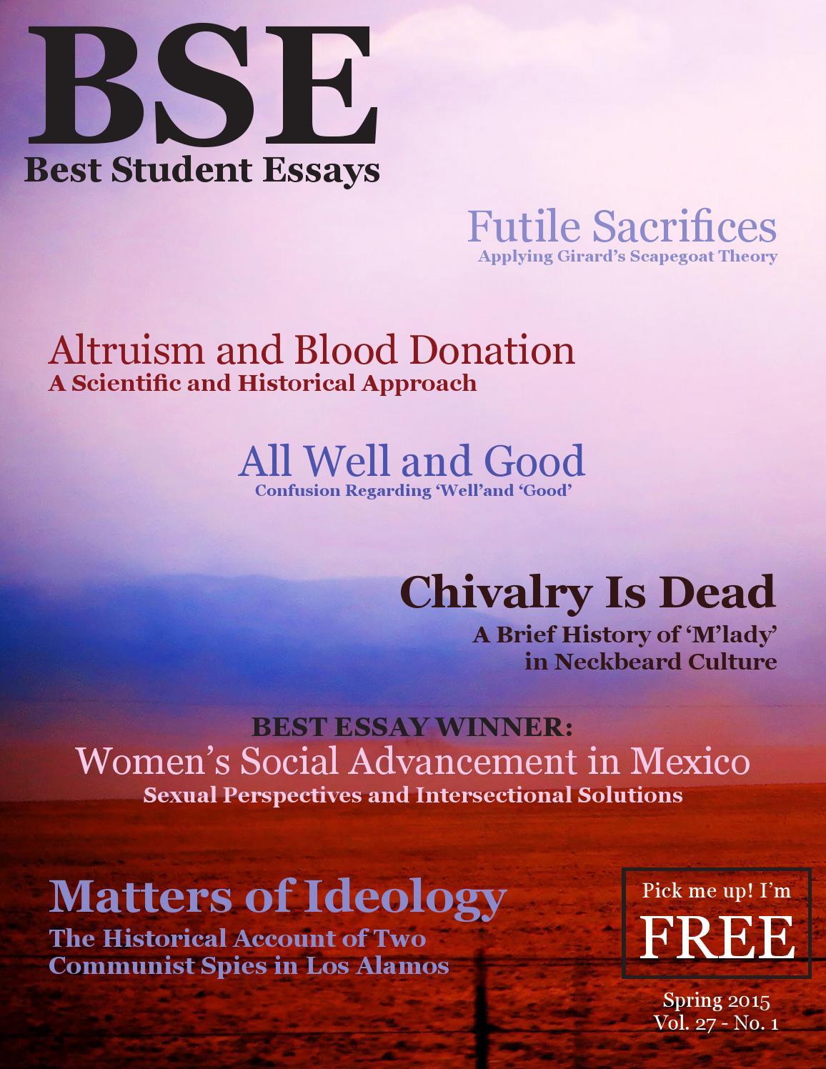 Best student essays unm