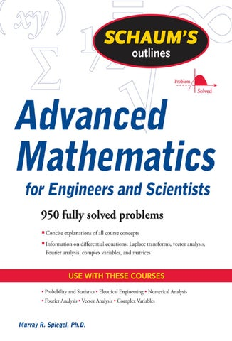 Schaum advanced mathematics for engineer scientists pdf by