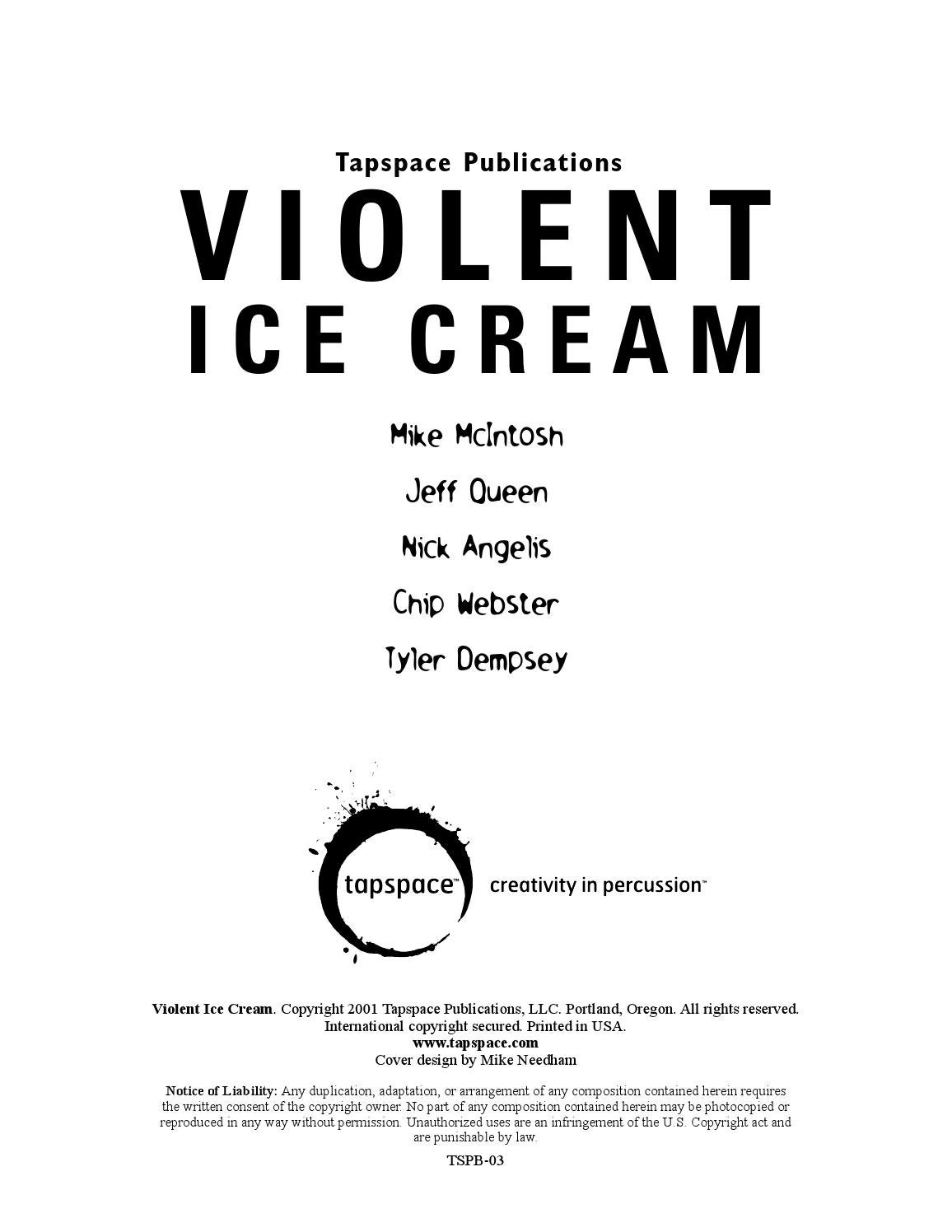 violent ice cream by tapspace issuu rh issuu com