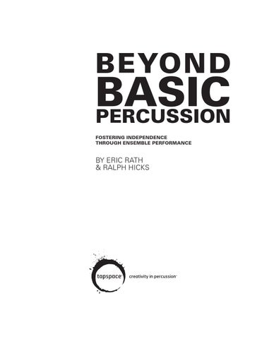 beyond basic percussion by tapspace issuu rh issuu com