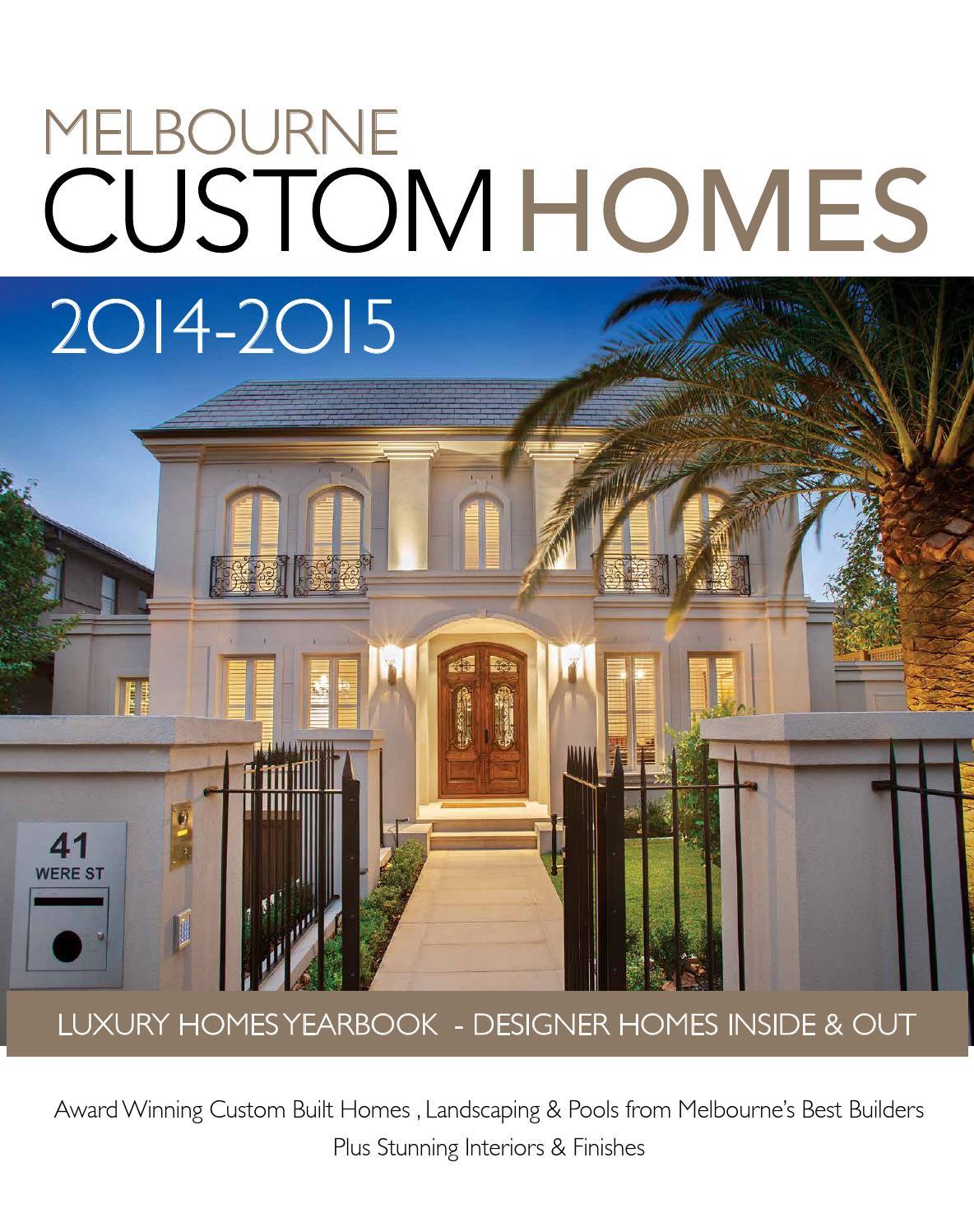 Melbourne Custom Homes 2014 2015