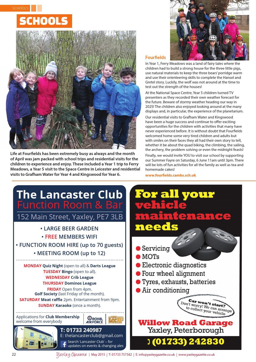 Yaxley gazette may 2015 by Dimension6000 - issuu