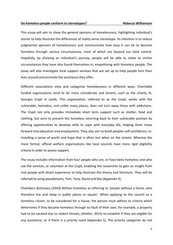 Rebecca Williamson Ouil Essay By Rebeccawilliamson  Issuu Do Homeless People Conform To Stereotypes Rebecca Williamson This Essay  Will Aim To Show The General Opinions Of Homelessness Highlighting  Individuals  Professional Business Plan Writers In Atlanta also Essay On High School Dropouts  Purdue Owl Online