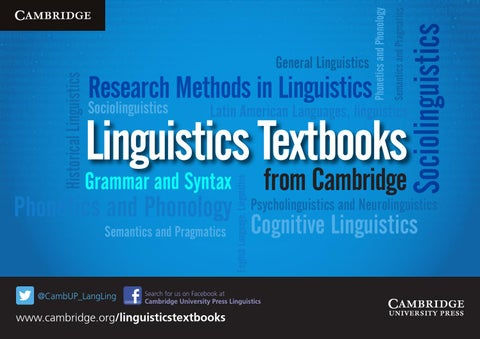 Linguistics Textbooks catalogue
