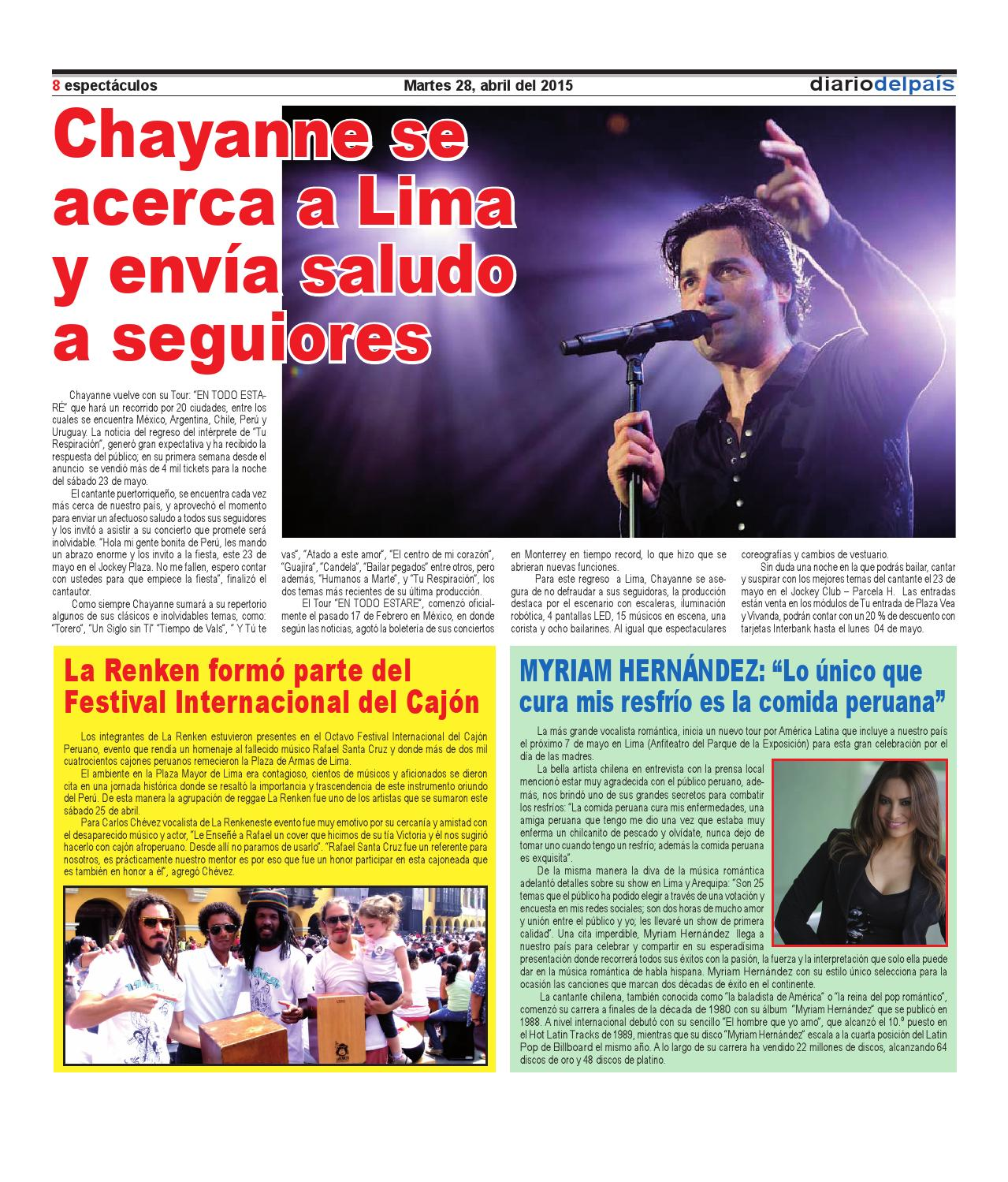 Edicion Impresa 28 De Abril Del 2015 By Diario Del Pais El