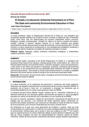 El Estado Y La Educacion Ambiental Comunitaria By Esmage Issuu