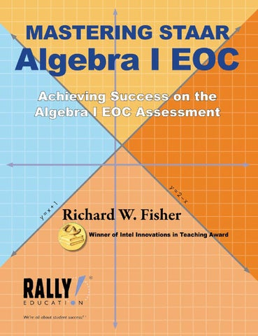 mastering staar algebra i eoc by rally education issuu. Black Bedroom Furniture Sets. Home Design Ideas