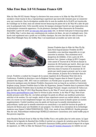 finest selection ac8e7 a8c75 Nike Free Run 3.0 V4 Femme France GI9 Nike Air Max 90 ICE Atomic Mango La  derniere fois nous avons vu la Nike Air Max 90 ICE les sneakers s etait  tourne le ...