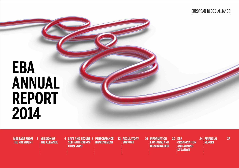 EBA Annual Report 2014 by European Blood Alliance - issuu
