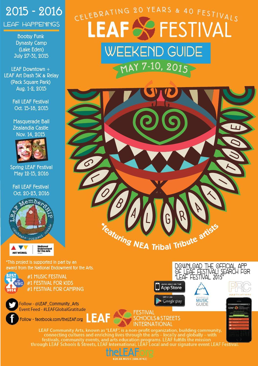 LEAF Festival - Spring 2015 Weekend Program by LEAF Community Arts