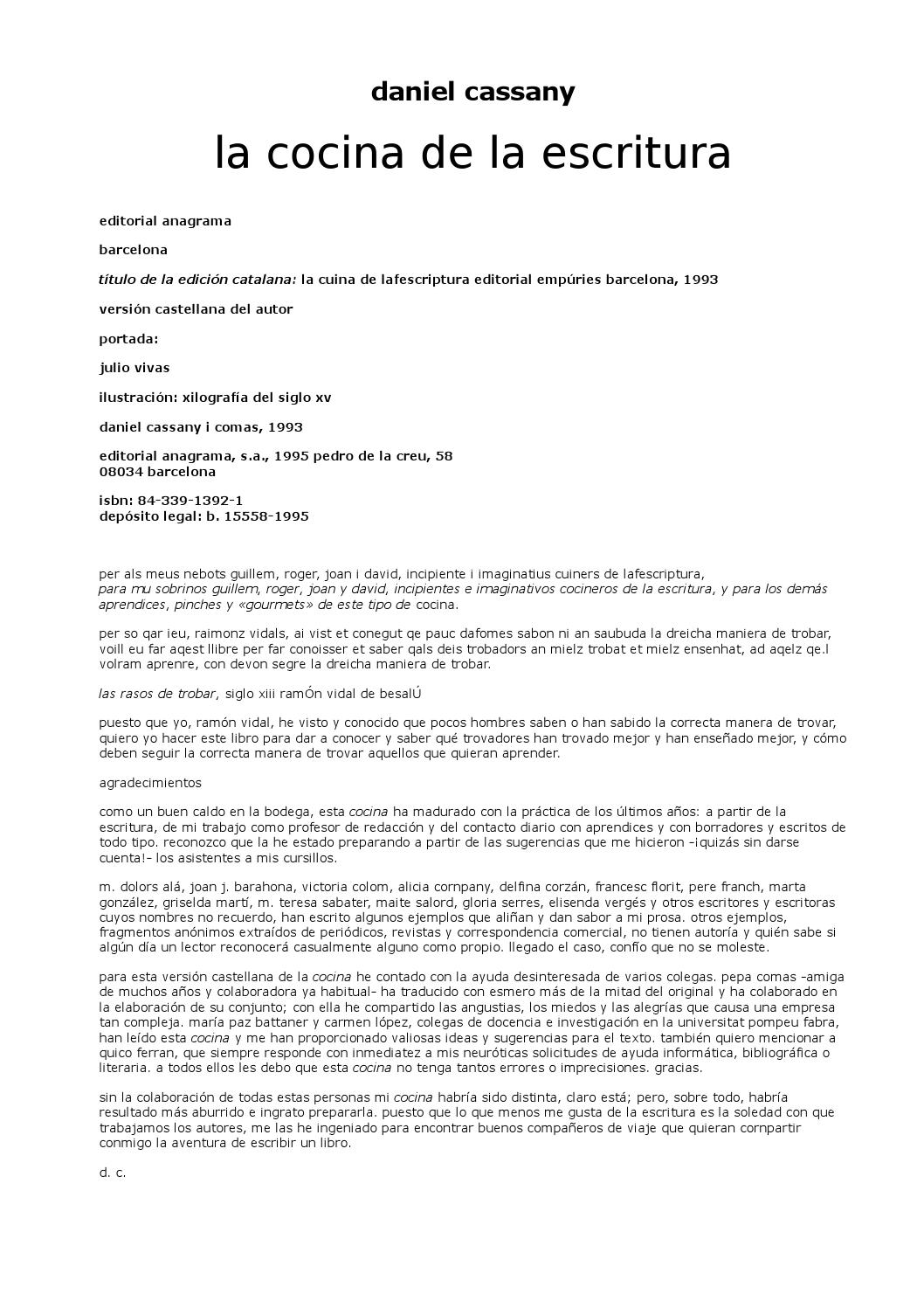 La cocina de la escritura by Natalia JJ - issuu