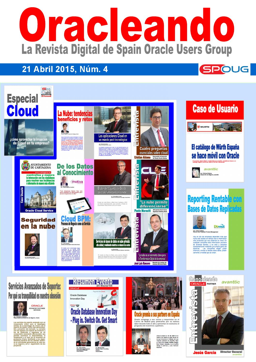 Nº 4 Revista Oracleando - Abril 2015 by SPOUG Spain Oracle Users Group -  issuu 840de7394668