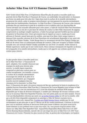 f3cfad1d259 Acheter Nike Free 4.0 V3 Homme Chaussures ER9 Girls  Grade School Nike Free  2.0 Exploitation ShoesThe plus de points a travailler pieds nus pourrait  etre la ...