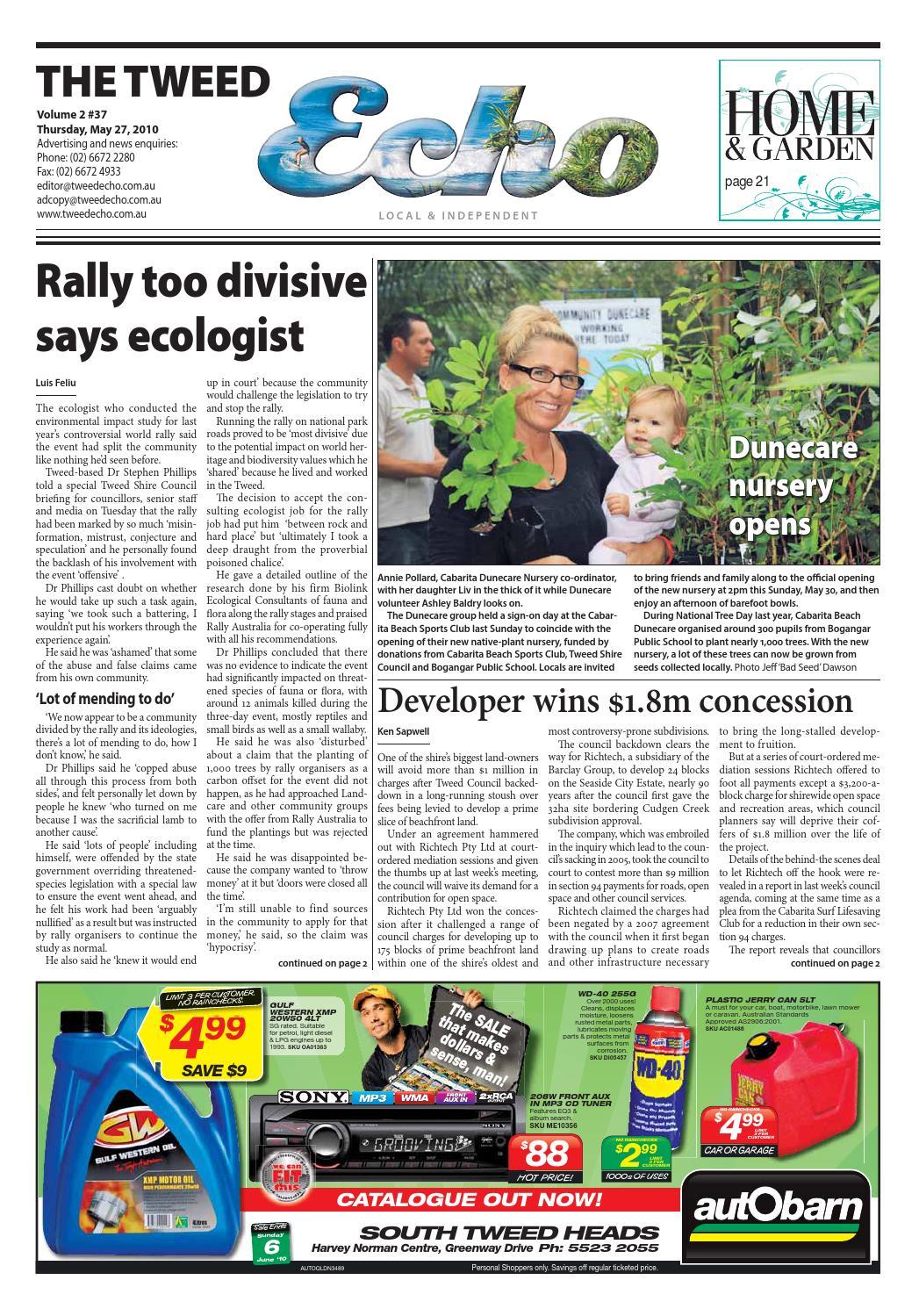 Tweed Echo – Issue 2 37 – 27/05/2010 by Echo Publications - issuu