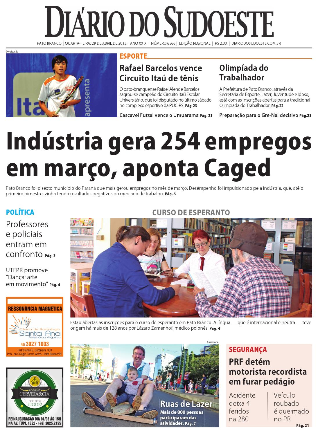 9ae4e66e74 Diario do sudoeste 29 de abril de 2015 ed 6366 indd by Diário do Sudoeste -  issuu