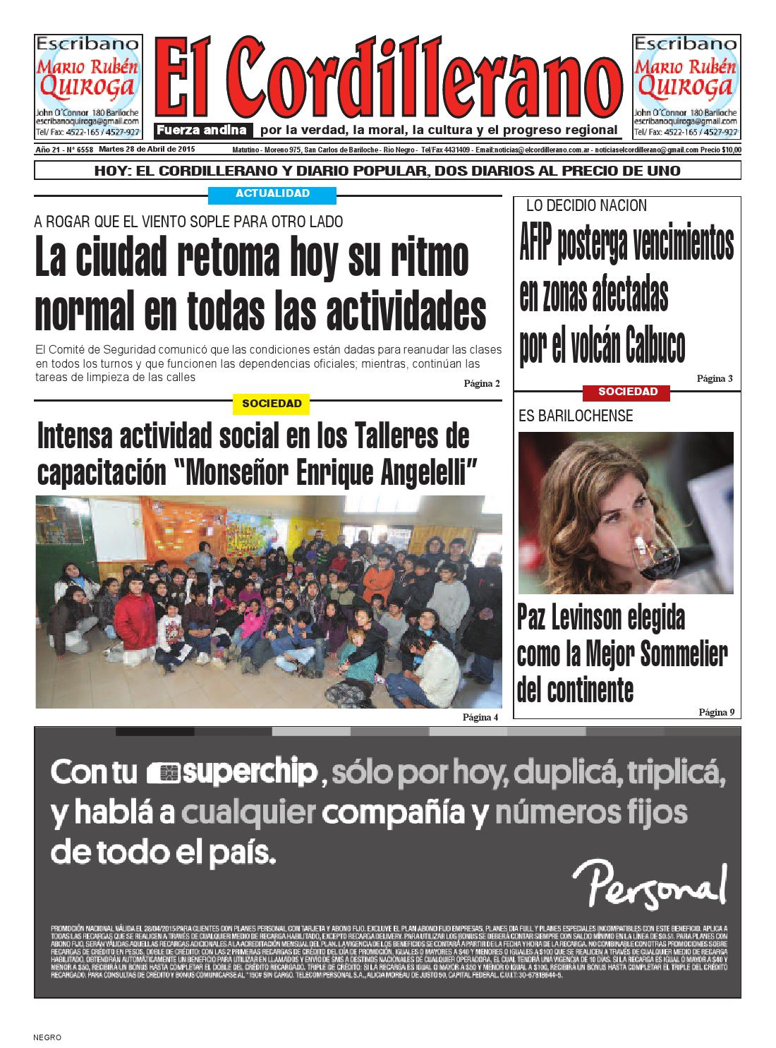 28 de abril de 2015 by El Cordillerano - issuu