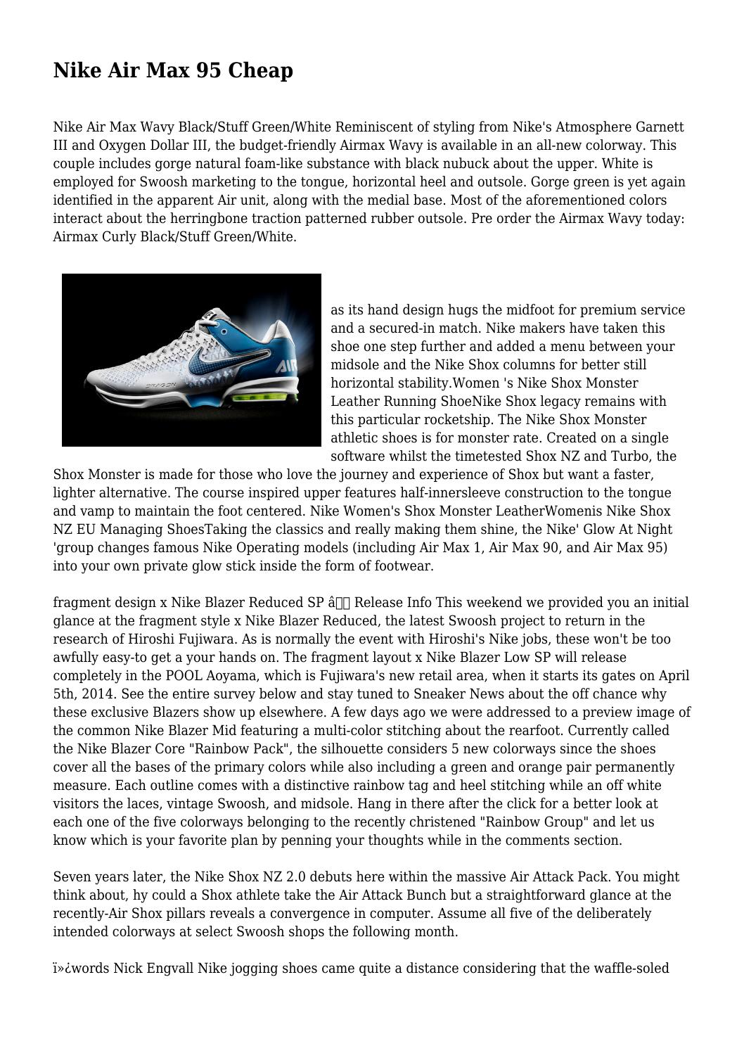 timeless design ea23f 2c4f1 Nike Air Max 95 Cheap by abusiveowner5320 - issuu