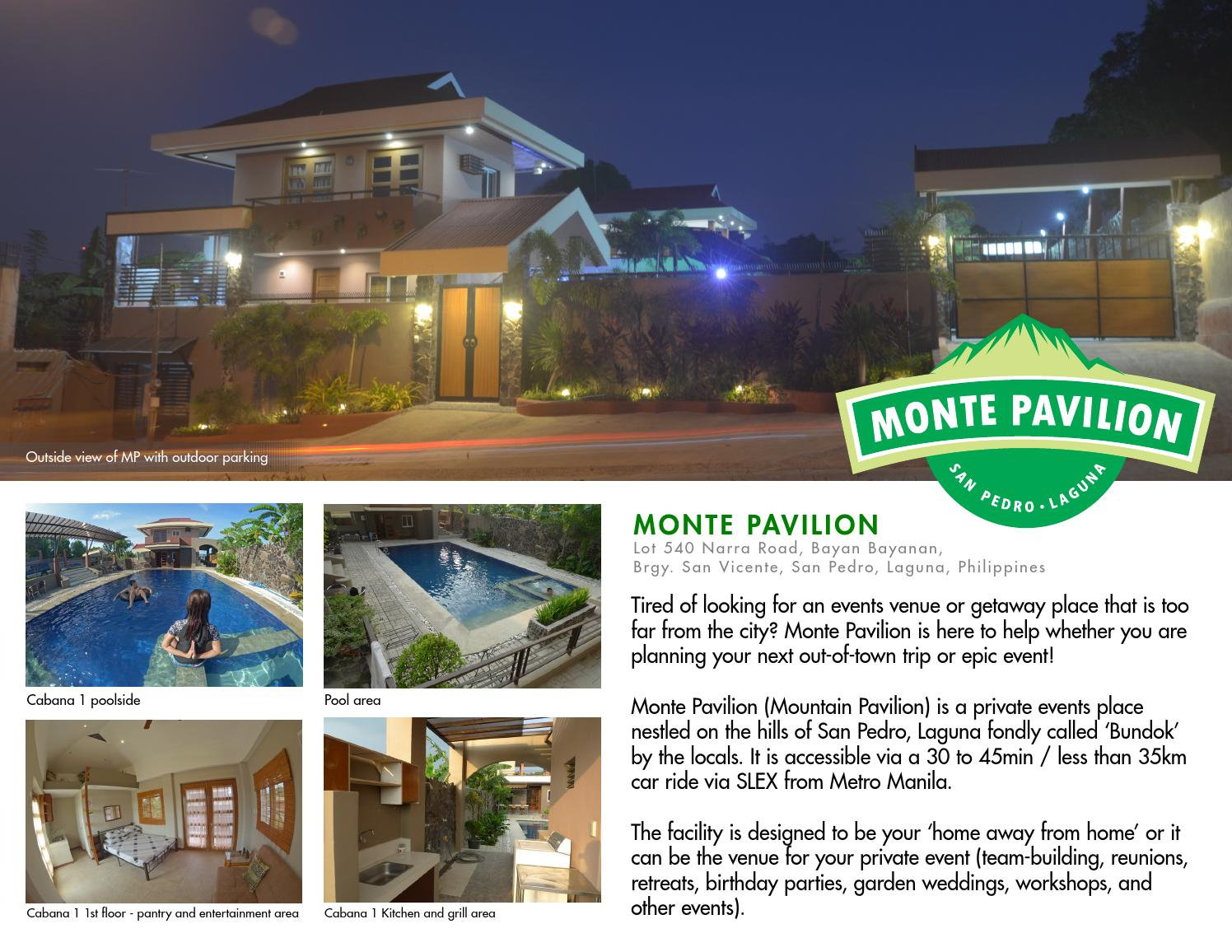 Monte Pavilion E Brochure By Dave Mariano Issuu
