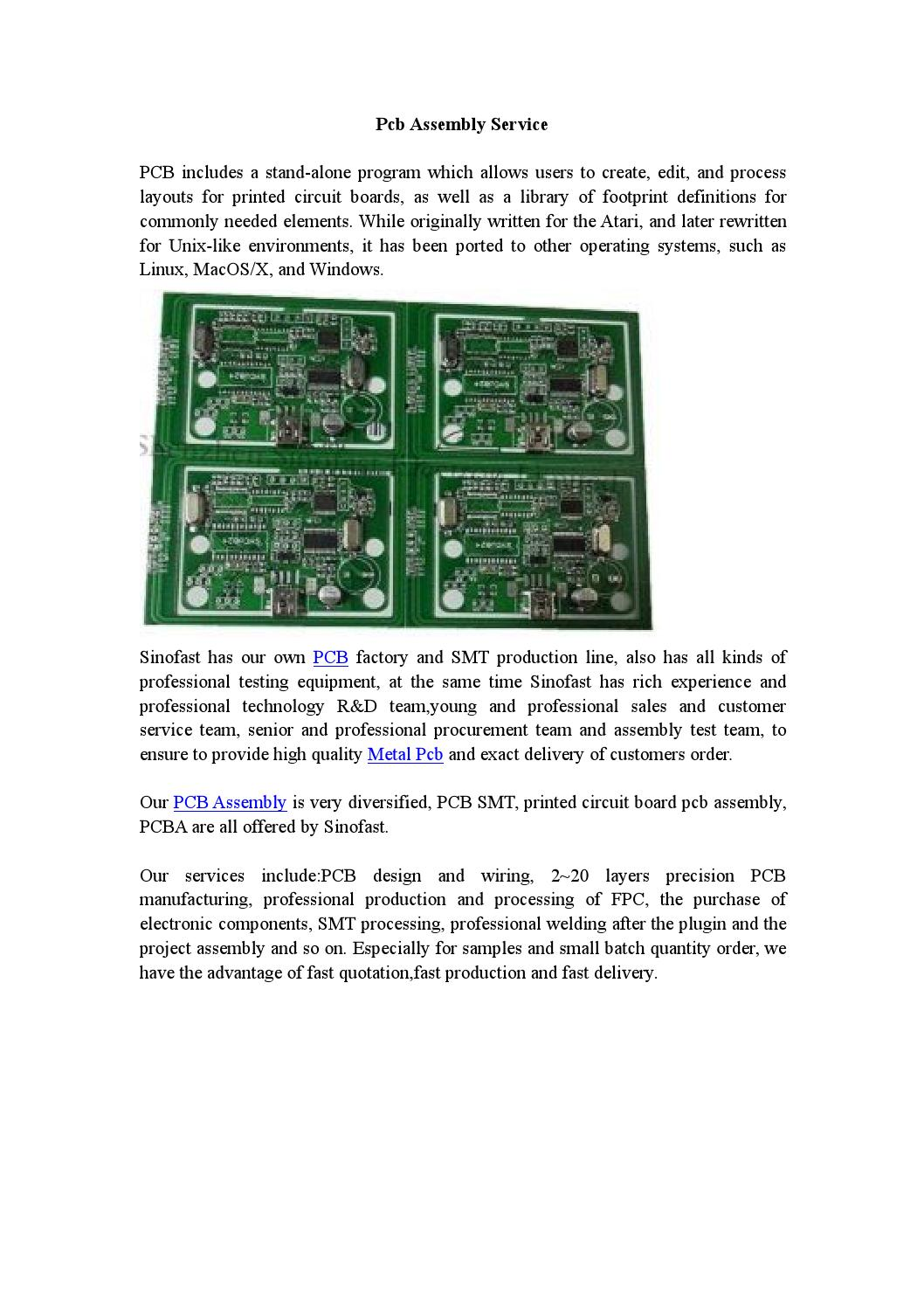 Pcb Assembly Service By Shenzhen Sinofast Electronics Coltd Issuu Production Printed Circuit Board Buy Boardpcb