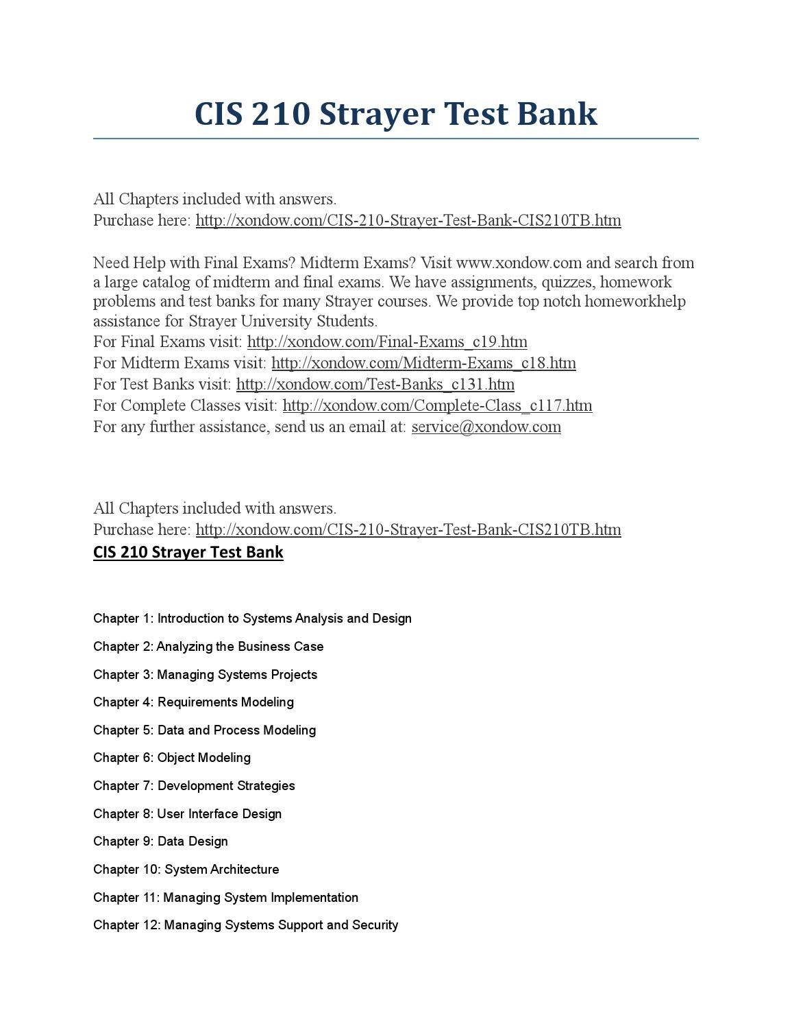 Cis 210 Strayer Includes Midterm And Final Exams Strayer Latest By Jasminlanz Issuu