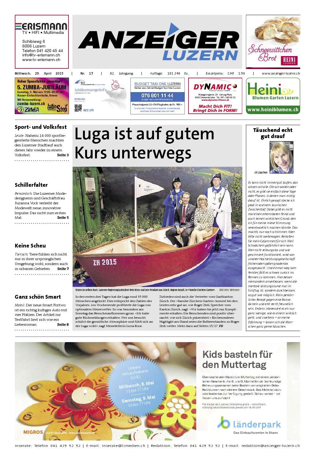 Anzeiger Luzern 17 / 29.04.2015 by Anzeiger-Luzern - issuu