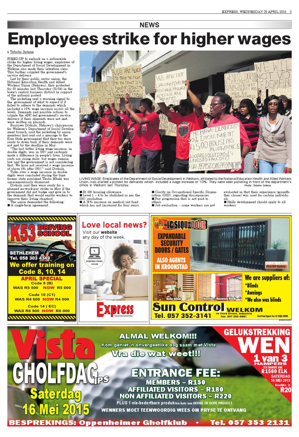 Express Goldfields & NFS 29-04-2015 by Northern Cape Express