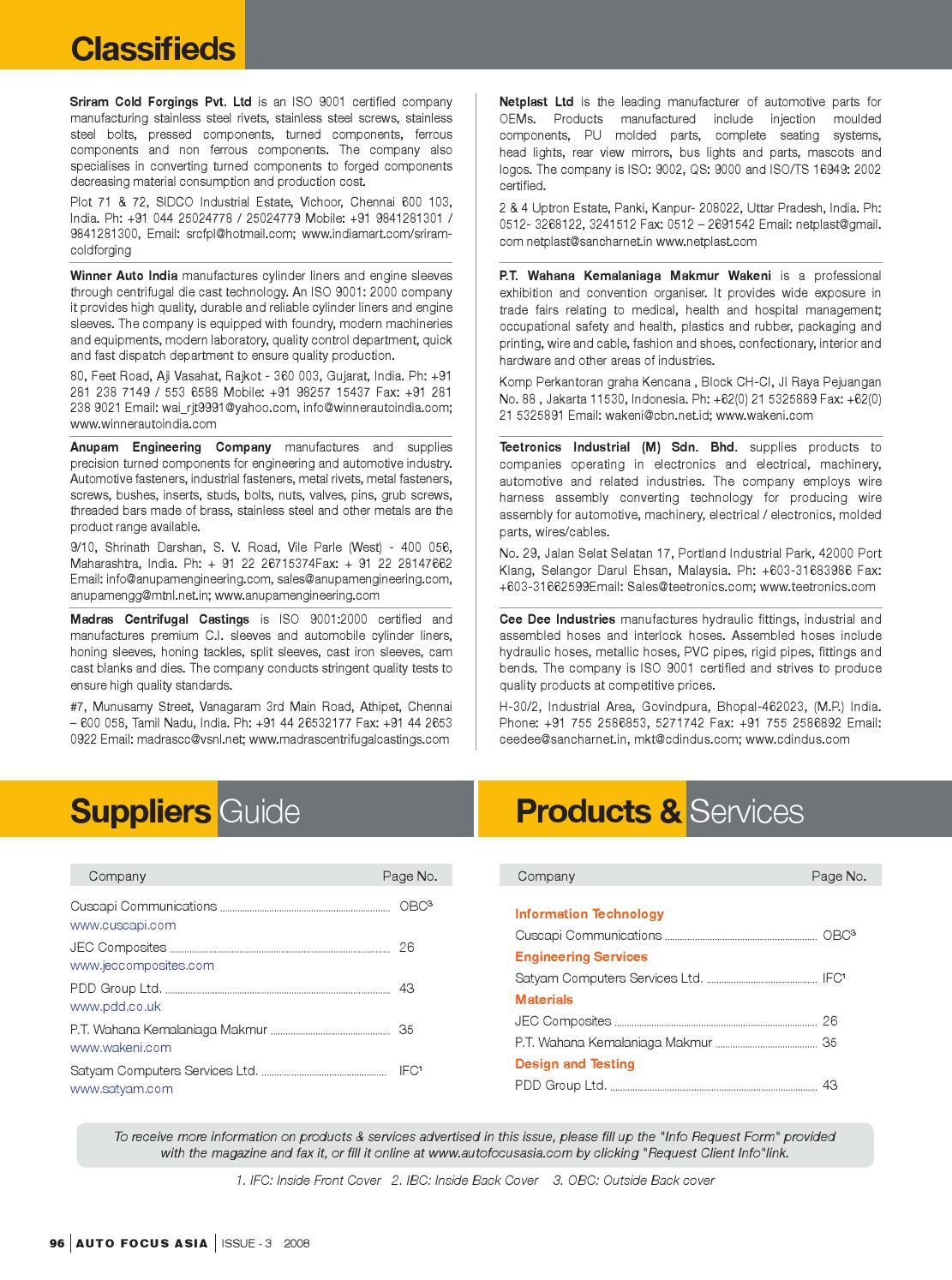 Afa03 Fullmag Hq By Ochre Media Pvt Ltd Issuu Wiring Harness Industry In Chennai