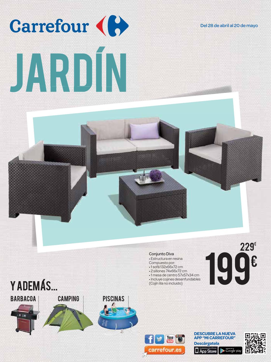 Jardin by losdescuentos issuu for Muebles resina carrefour