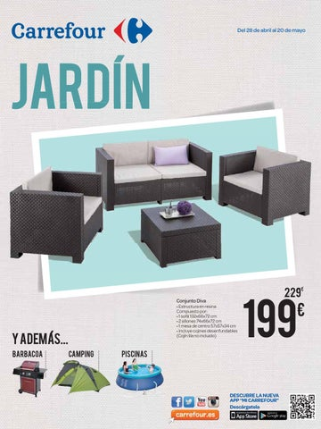 Jardin by losdescuentos issuu for Mesa camping carrefour