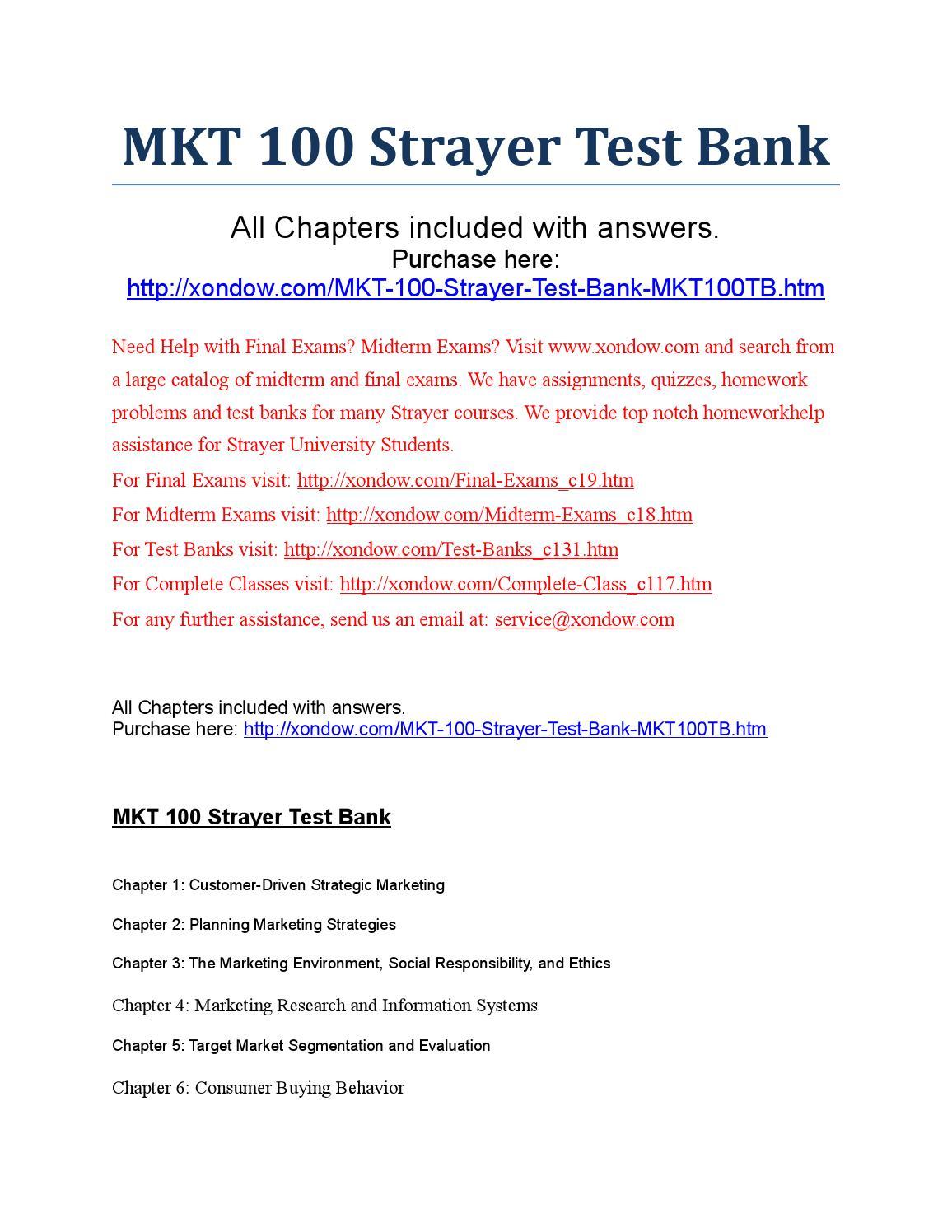 strayer university mkt 100 Mkt 505 global marketing (custom)  (strayer university) psy 100 strayer university from: $413  strayer strayer university from: n/a cis 175 network+ .