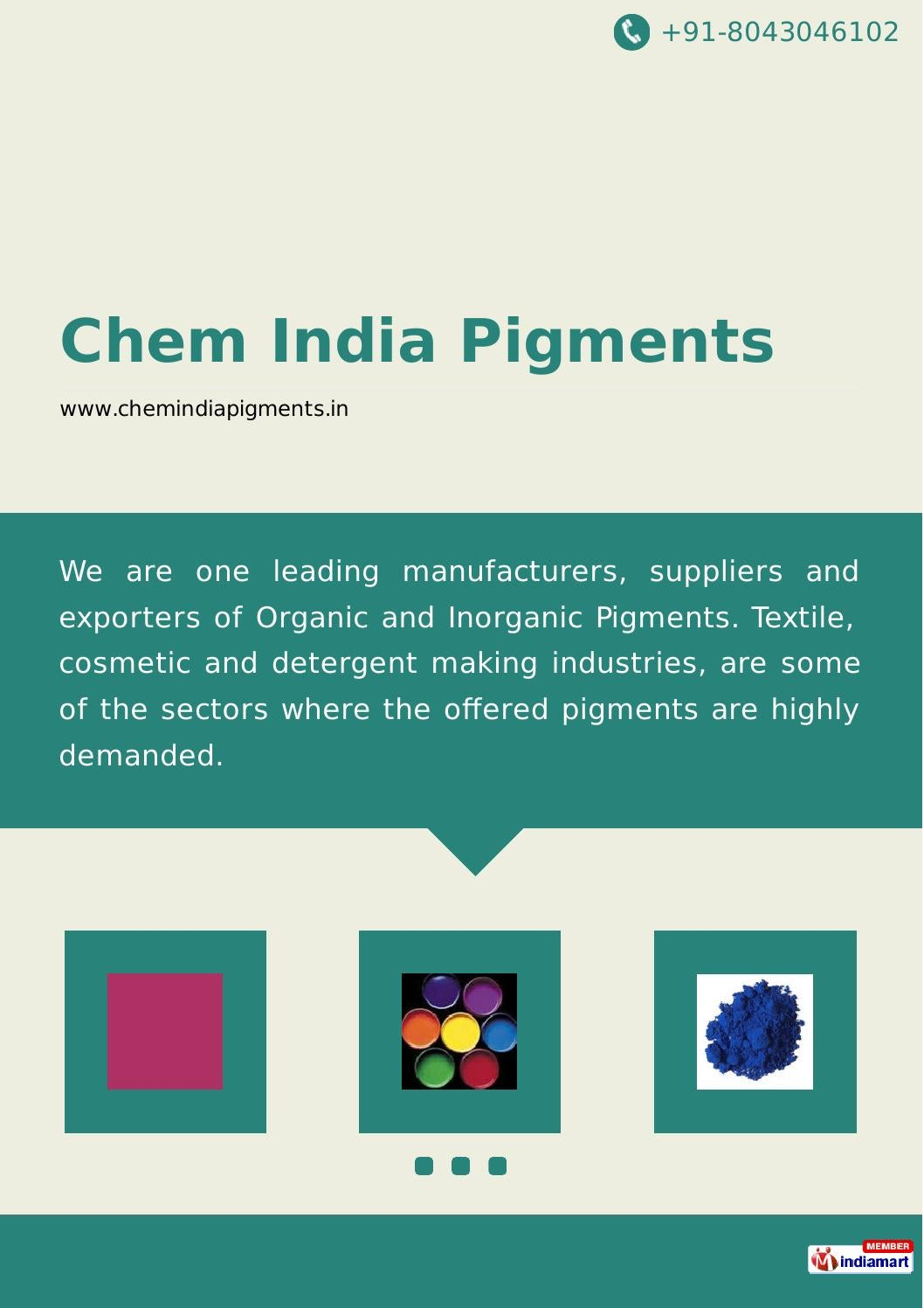 Chem india pigments by Chem India Pigments - issuu