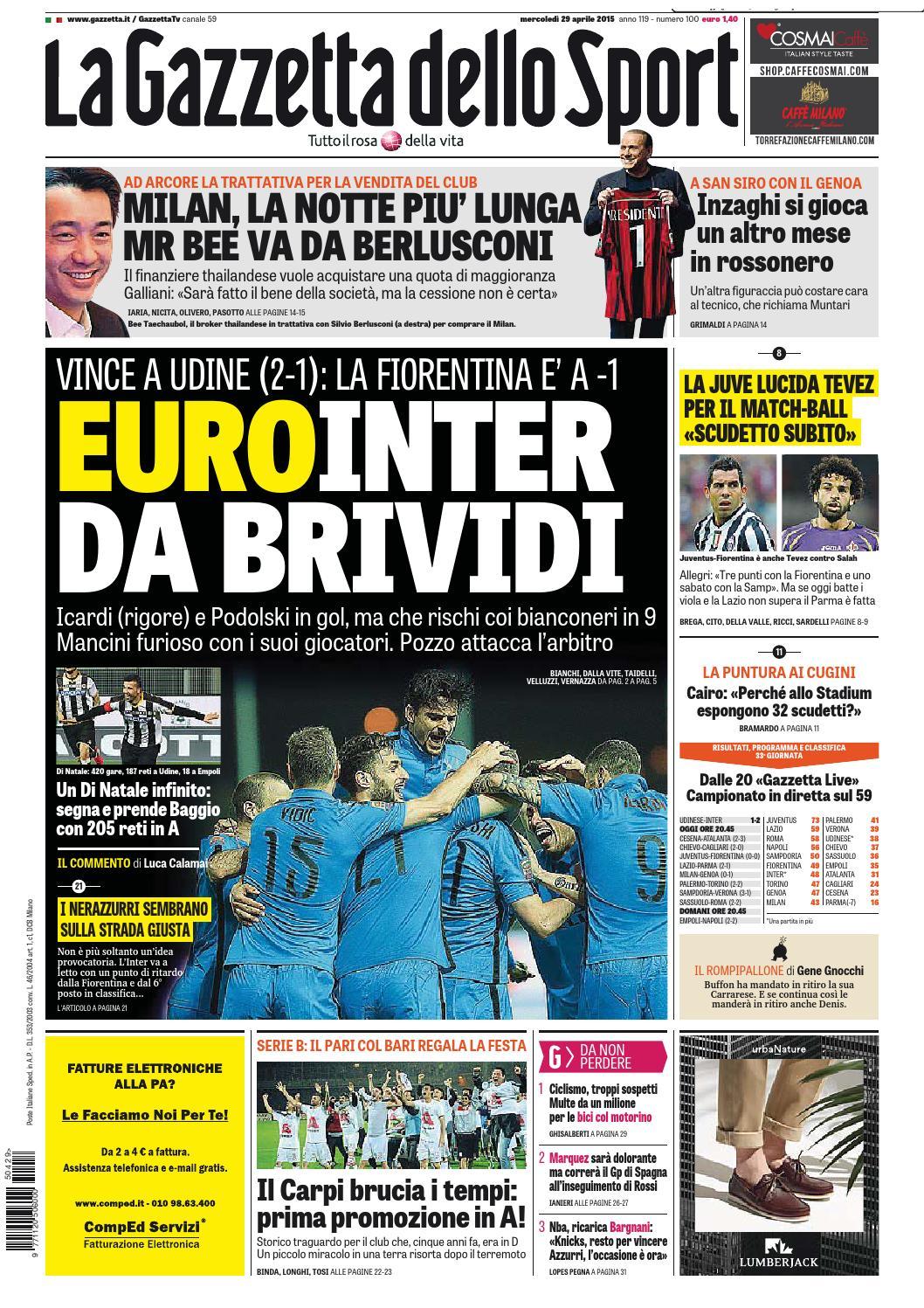 La Gazzetta dello Sport (04 - 29 - 2015) by Nguyen Duc Thinh - issuu 076f6e45fe4a