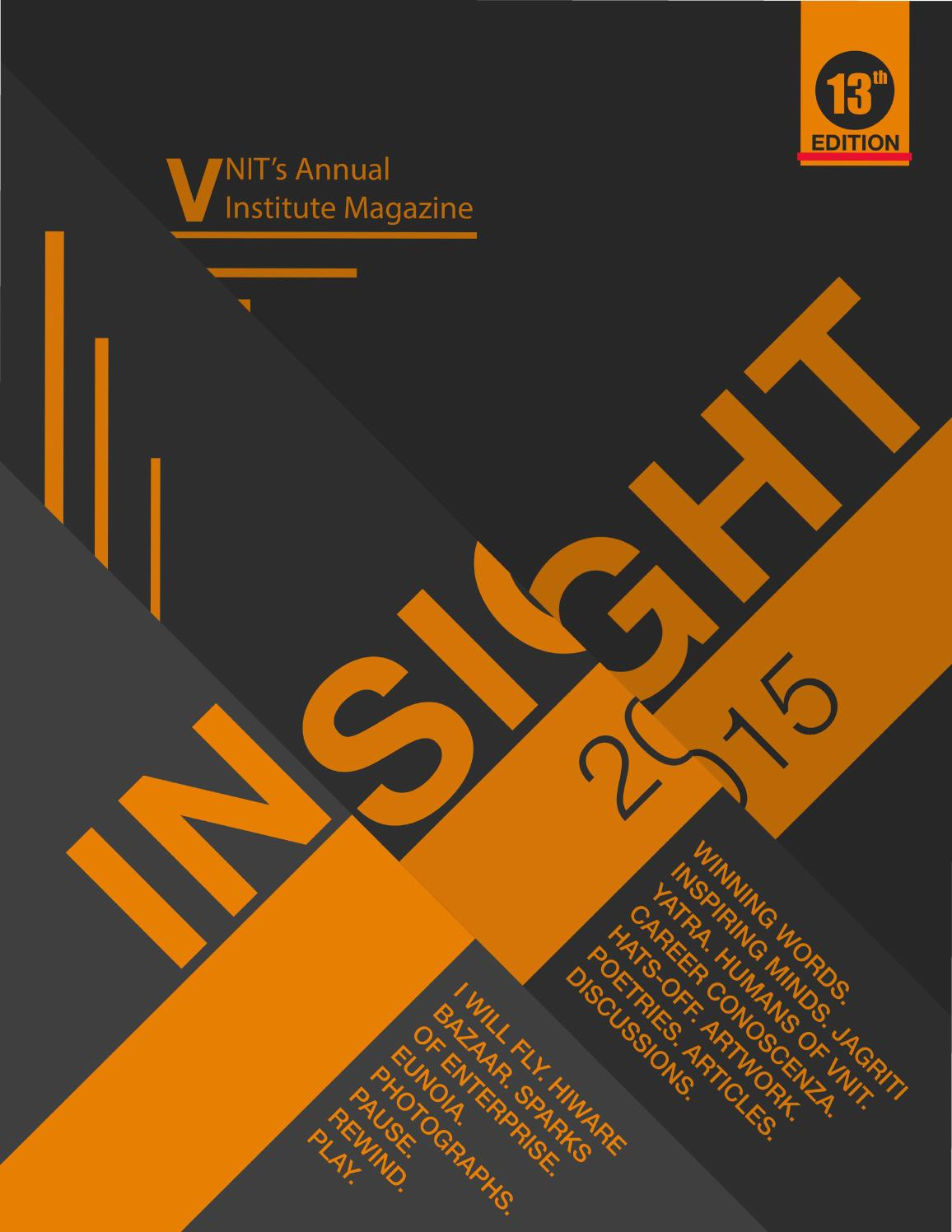 Law Book Cover Design : Insight vnit s annual institute magazine by mag