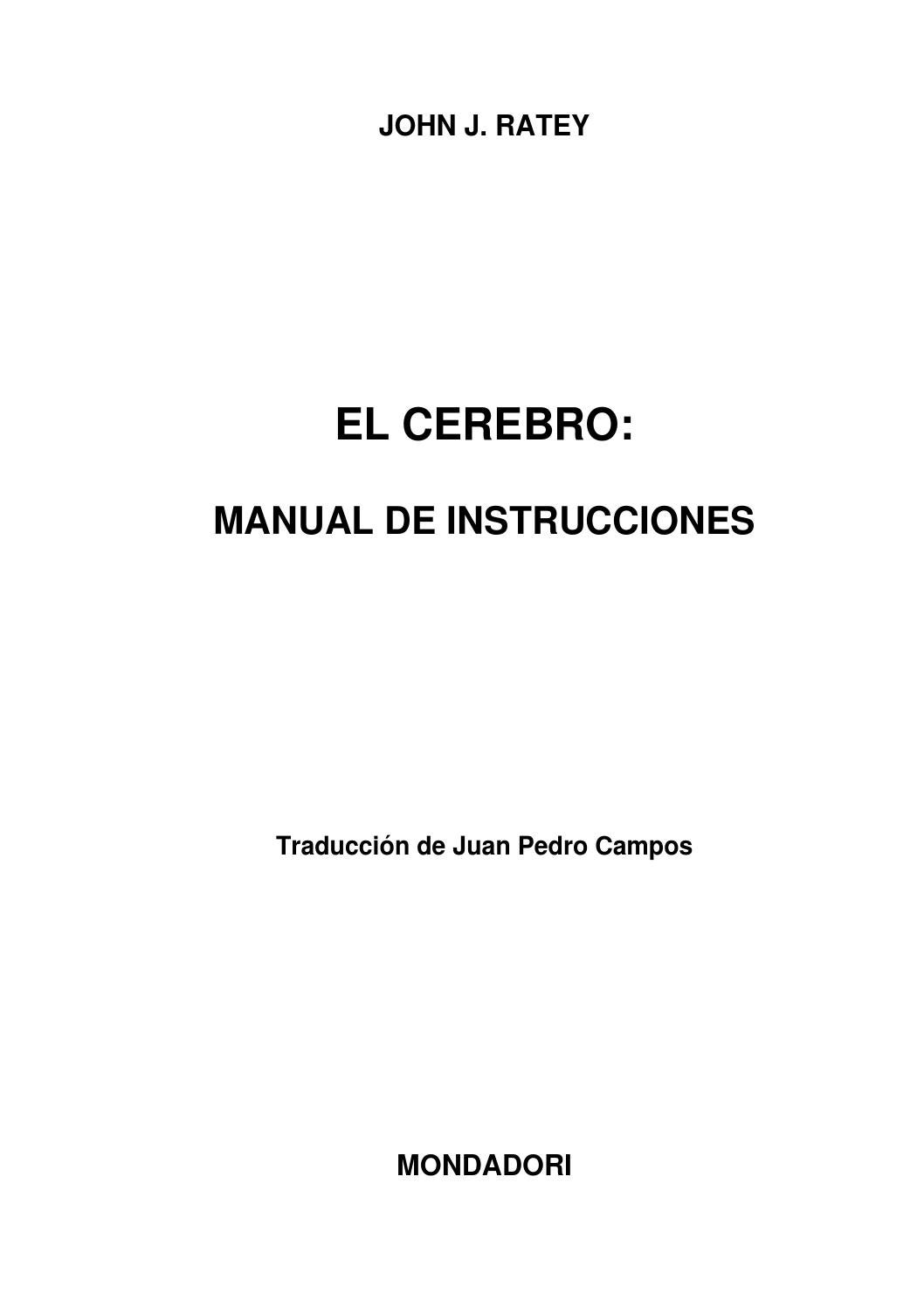 El cerebro manual de instrucciones by juanfrancoach - issuu