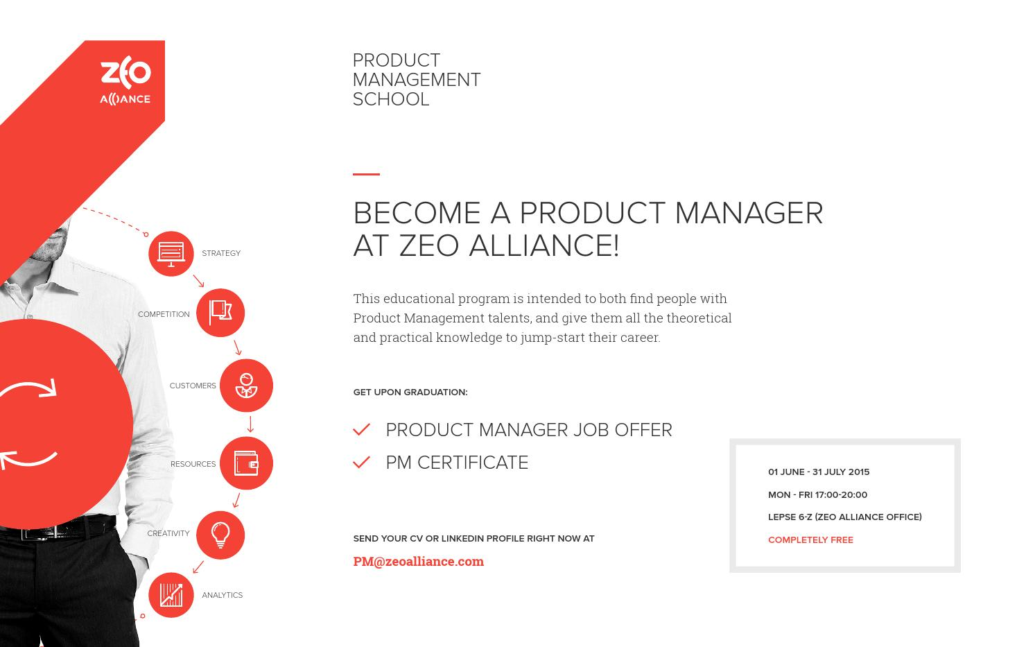 product management school 2015 by zeo alliance
