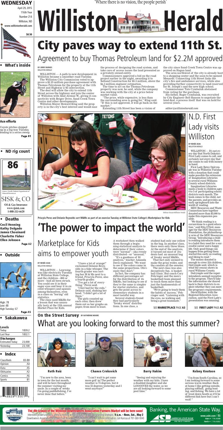 04 29 15 williston herald by wick communications issuu for The williston
