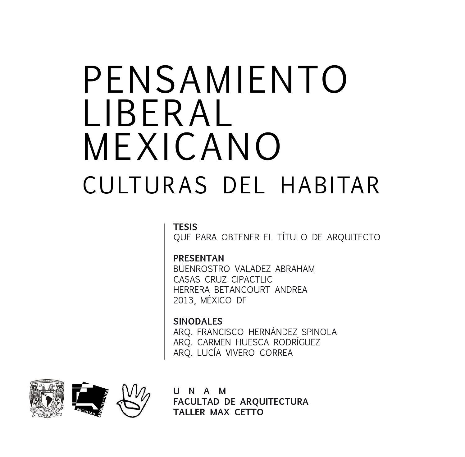 Pensamiento Liberal Mexicano. Culturas del habitar. by Cipactlic ...