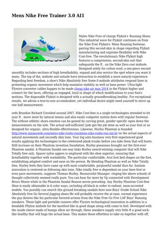 73bb3354eb2b2 Mens Nike Free Trainer 3.0 AI1 by combativecaptur31 - issuu