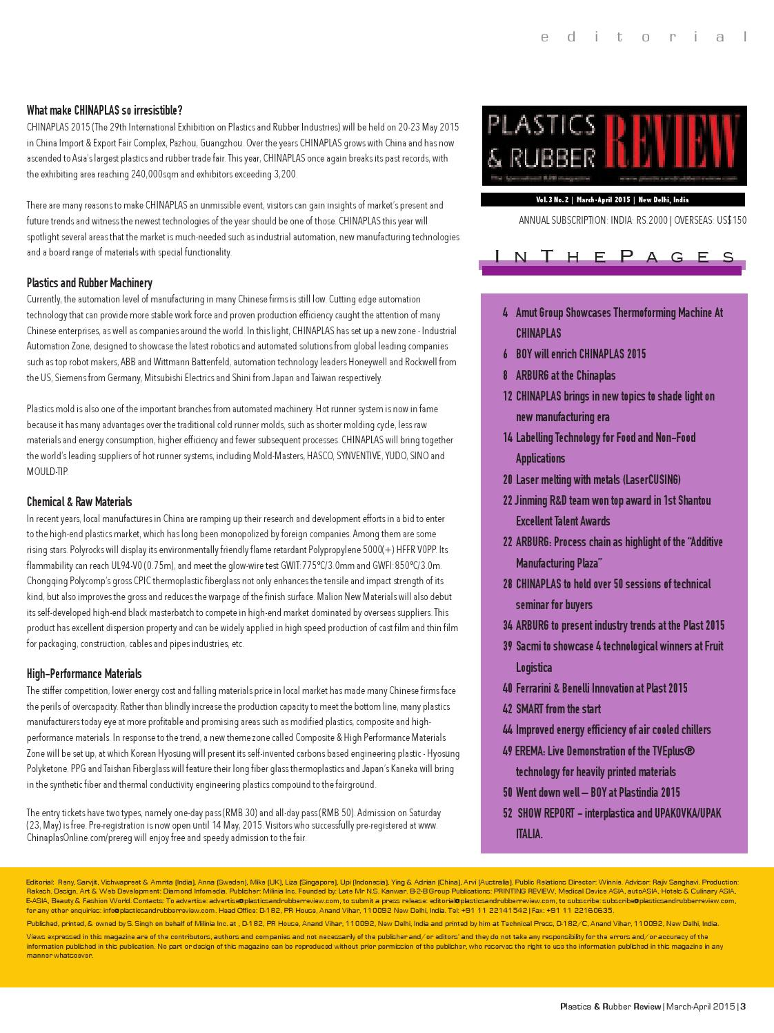 Plastics & Rubber Review by Worldwide Publications - issuu