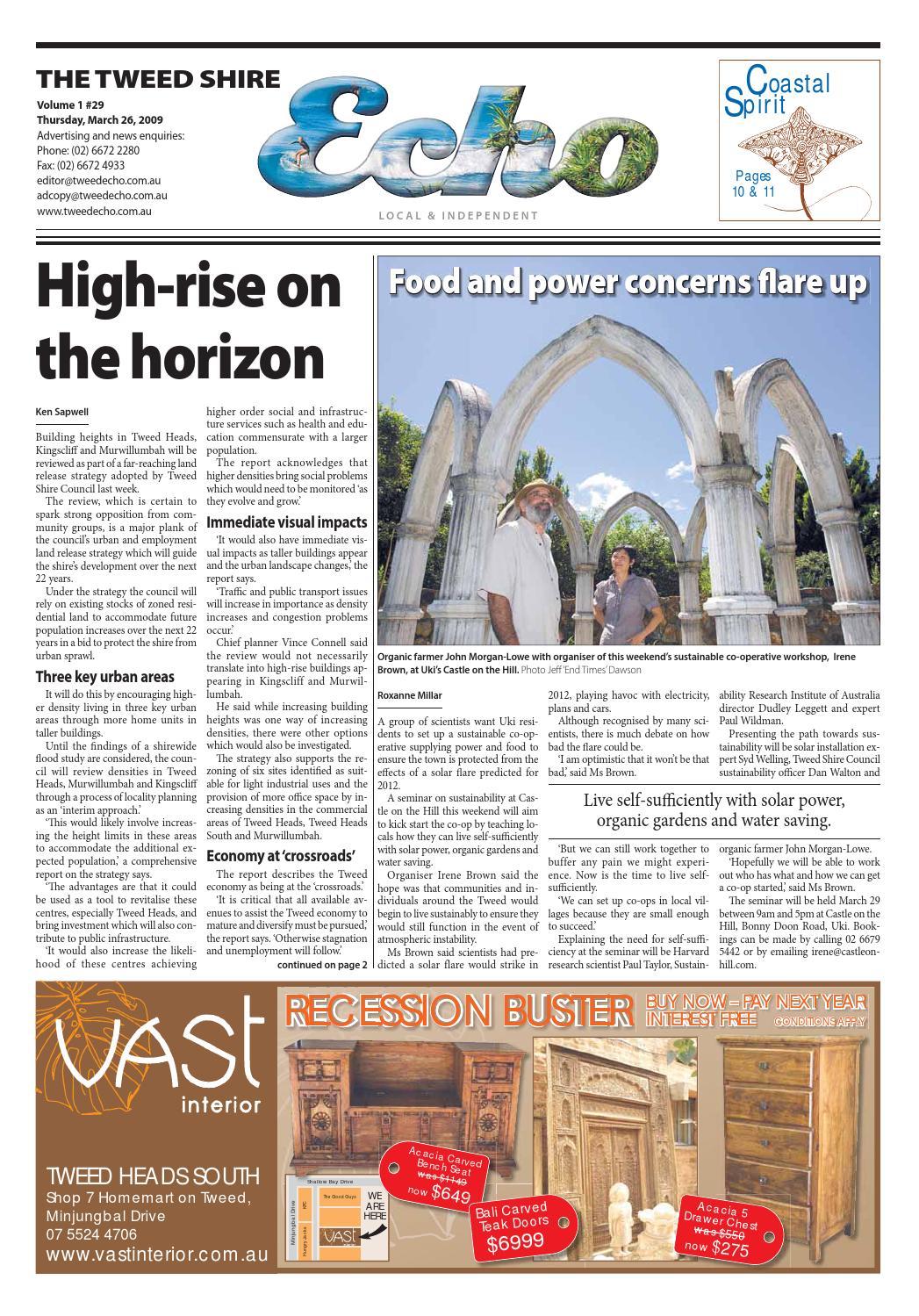 Tweed Echo – Issue 1.29 – 26/03/2009 by Echo Publications - issuu